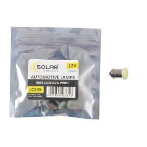 LED автолампа Solar 12V T8.5 BA9s 1COB 0,6W white 10шт