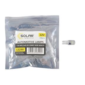 LED автолампа Solar 12V T10 W2.1x9.5d 2SMD 5630 white 10шт