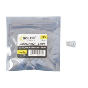 LED автолампа Solar 12V T10 W2.1x9.5d 1SMD 5630 white 10шт
