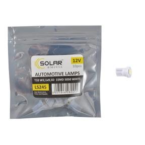 LED автолампа Solar 12V T10 W2.1x9.5d 1smd 5050 white 10шт