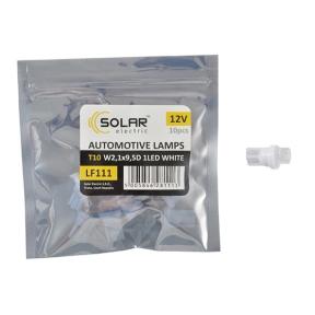 LED автолампа Solar 12V T10 W2.1x9.5d 1leds white 10шт