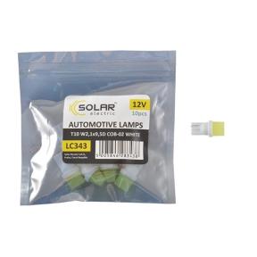 LED автолампа Solar 12V T10 W2.1x9.5d 1COB white 10шт