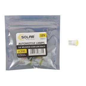 LED автолампа Solar 12V T10 W2.1x9.5d 1COB 48LM white 10шт