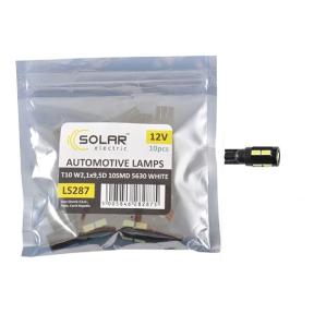 LED автолампа Solar 12V T10 W2.1x9.5d 10SMD 5630 white 10шт
