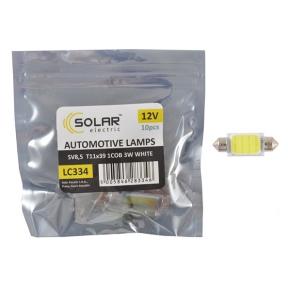 LED автолампа Solar 12V SV8.5 T11x39 1COB-8SMD 56LM white 10шт