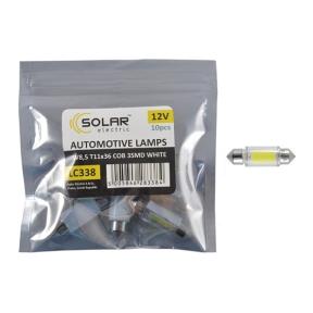 LED автолампа Solar 12V SV8.5 T11x36 COB-3SMD white 10шт