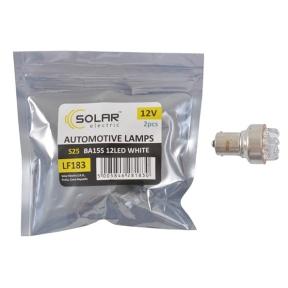 LED автолампа Solar 12V S25 BA15s 12leds white 2шт
