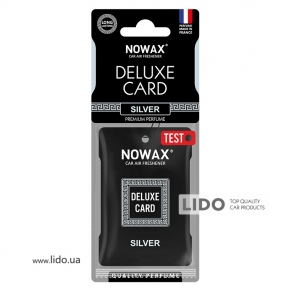 Ароматизатор Nowax Delux Card Silver, 6g