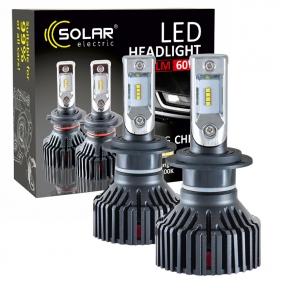 LED автолампа Solar H7 12/24V 6000K 8000Lm 60W Philips ZES