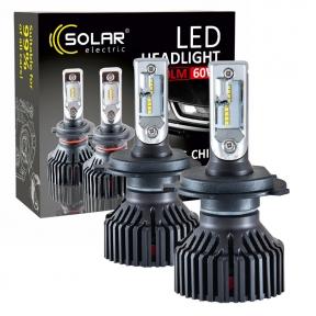 LED автолампа Solar H4 12/24V 6000K 8000Lm 60W Philips ZES
