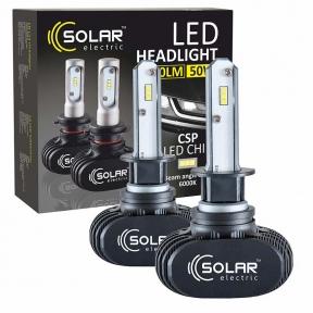 LED автолампа Solar H1 12/24V 6000K 4000Lm 50W Seoul CSP 19x19