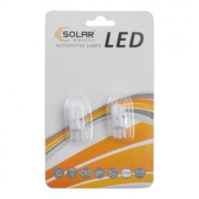 LED автолампа Solar 12V T10 W2.1x9.5d SMD 1,5W white 2шт