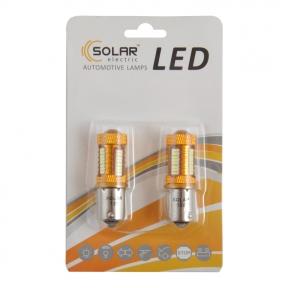 LED автолампа Solar 12V S25 BA15s 38SMD 4014 140lm white, 2шт