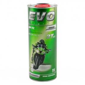 Моторне масло Evo Moto 2T Bio 1L зелений