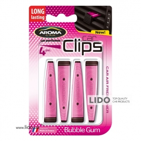 Ароматизатор Aroma Car Clips Bubble Gum, 4x5g