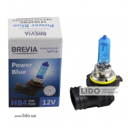 Галогеновая лампа Brevia HB4 12V 55W P22d Power Blue 4200K