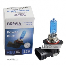 Галогеновая лампа Brevia HB3 12V 65W P20d Power Blue 4200K