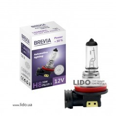 Галогеновая лампа Brevia H9 12V 65W PGJ19-5 Power +30% CP