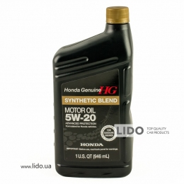 Моторное масло Honda Genuine Synthetic Blend 5w-20 1qt (946 ml)