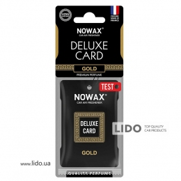 Ароматизатор Nowax Delux Card Gold, 6g