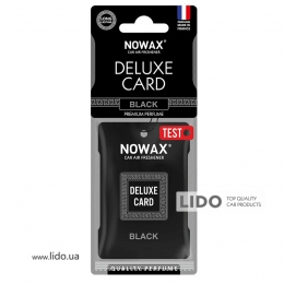 Ароматизатор Nowax Delux Card Black, 6g