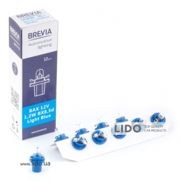 Лампа накаливания Brevia BAX 12V 1.2W BX8.5d Light Blue CP