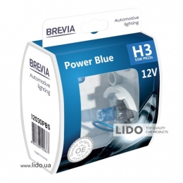Галогеновая лампа Brevia H3 12V 55W PK22s Power Blue S2