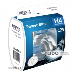 Галогеновая лампа Brevia H4 12V 60/55W P43t Power Blue S2