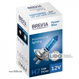 Галогеновая лампа Brevia H7 12V 55W PX26d Power Blue CP