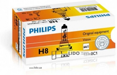 Галогеновая лампа Philips H8 12V 35W PGJ19-1
