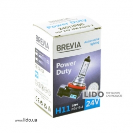 Галогеновая лампа Brevia H11 24V 70W PGJ19-2 Power Duty CP