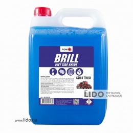 Nowax Поліроль для шин NOWAX BRILL WET TIRE SHINE 5L концентрат 1:3; 1:1