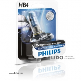 Галогеновая лампа Philips HB4 12V 55W P22d BlueVision (Xenon Effect), Blister 1шт