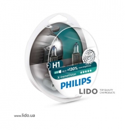 Галогеновая лампа Philips H1 12V 55W X-treme Vision +130% SP