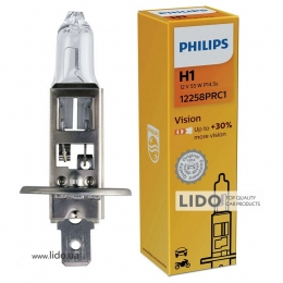 Галогеновая лампа Philips H1 12V 55W P14,5s Premium (30% more light)