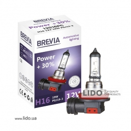 Галогеновая лампа Brevia H16 12V 19W PGJ19-3 Power +30% CP