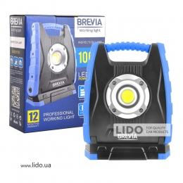 Профессиональная инспекционная лампа Brevia LED 10W COB 1000lm 4400mAh Power Bank, type-C