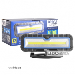 Профессиональная инспекционная лампа Brevia LED 10W COB 1000lm 4000mAh Power Bank, type-C